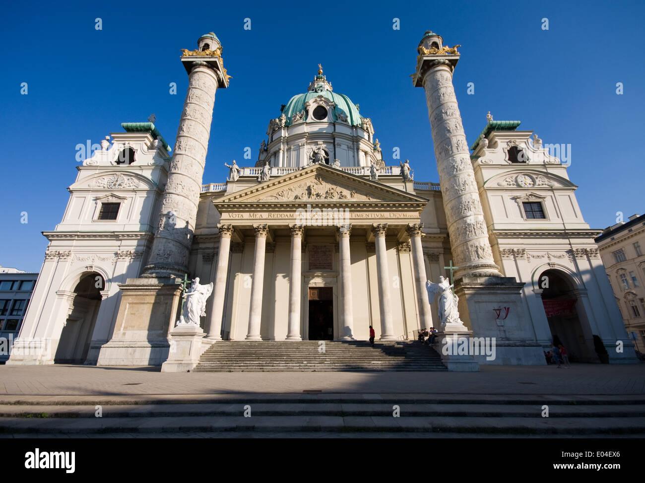 Karlskirche, Wien, Österreich - Stock Image