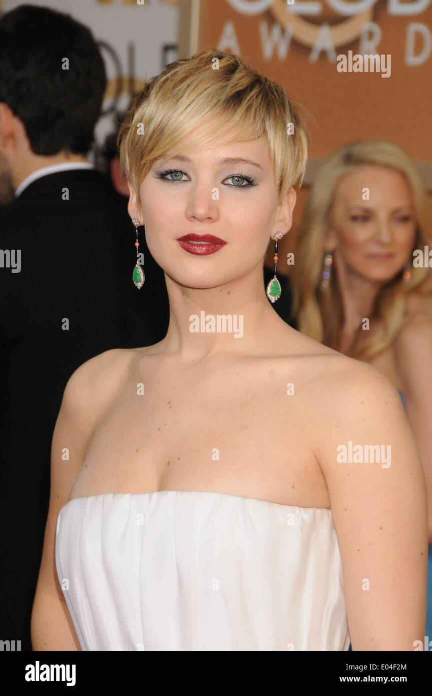 May 1, 2014 - Actress JENNIFER LAWRENCE is named the Sexiest Woman in the World by FHM magazine for 2014. The 23 - Stock Image