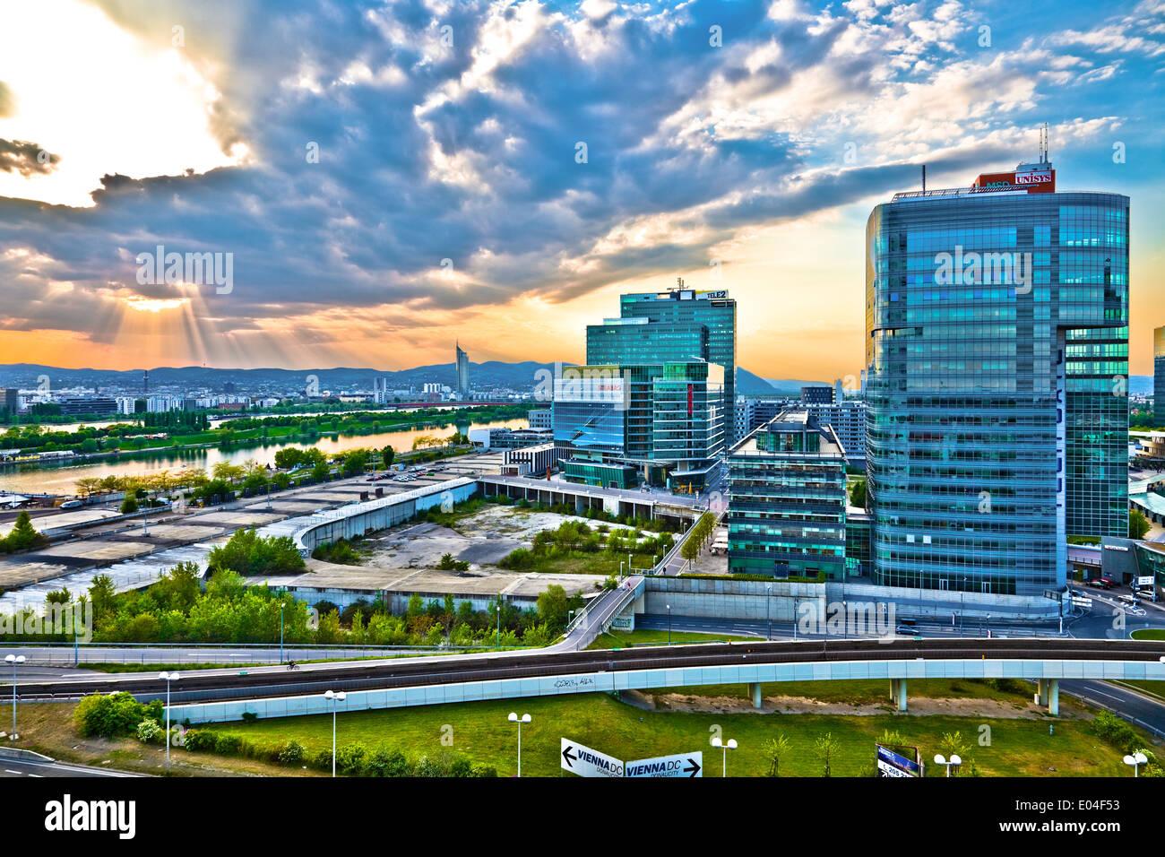 Donaucity, Wien, Österreich - Danube city, Vienna, Austria Stock Photo