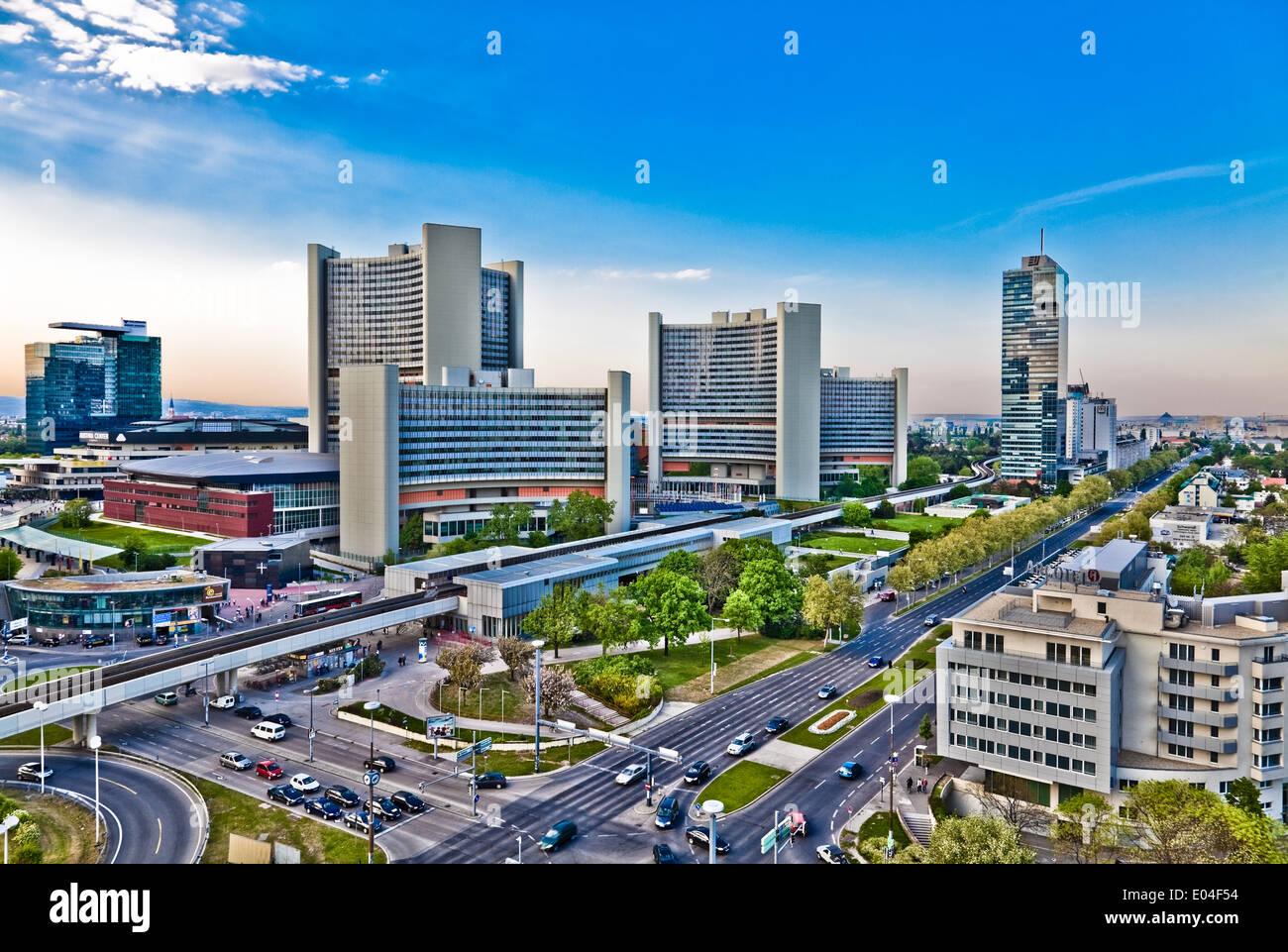 UNO City, Wien, Österreich - UNO City, Vienna, Austria - Stock Image