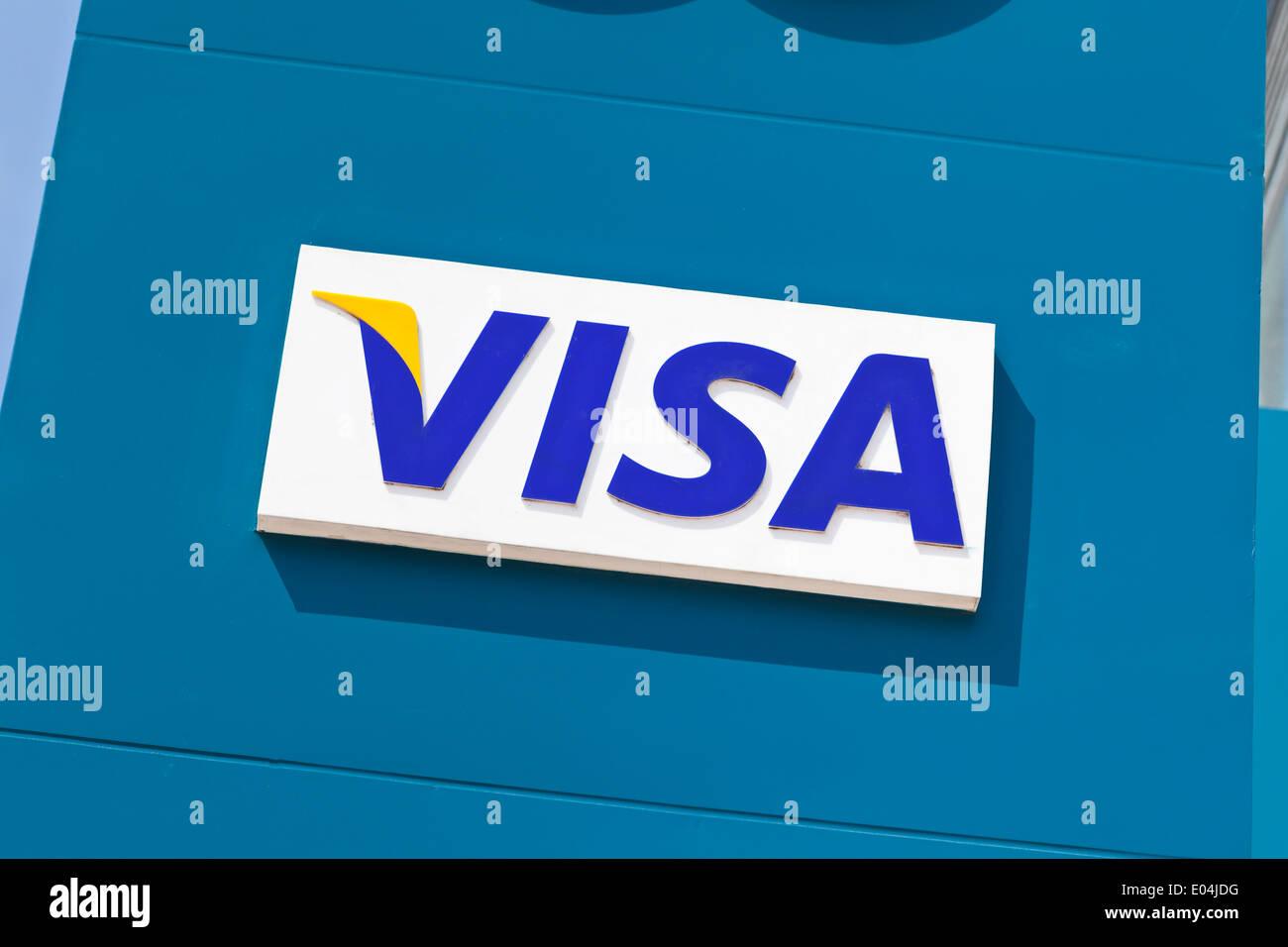 Visa sign - Stock Image