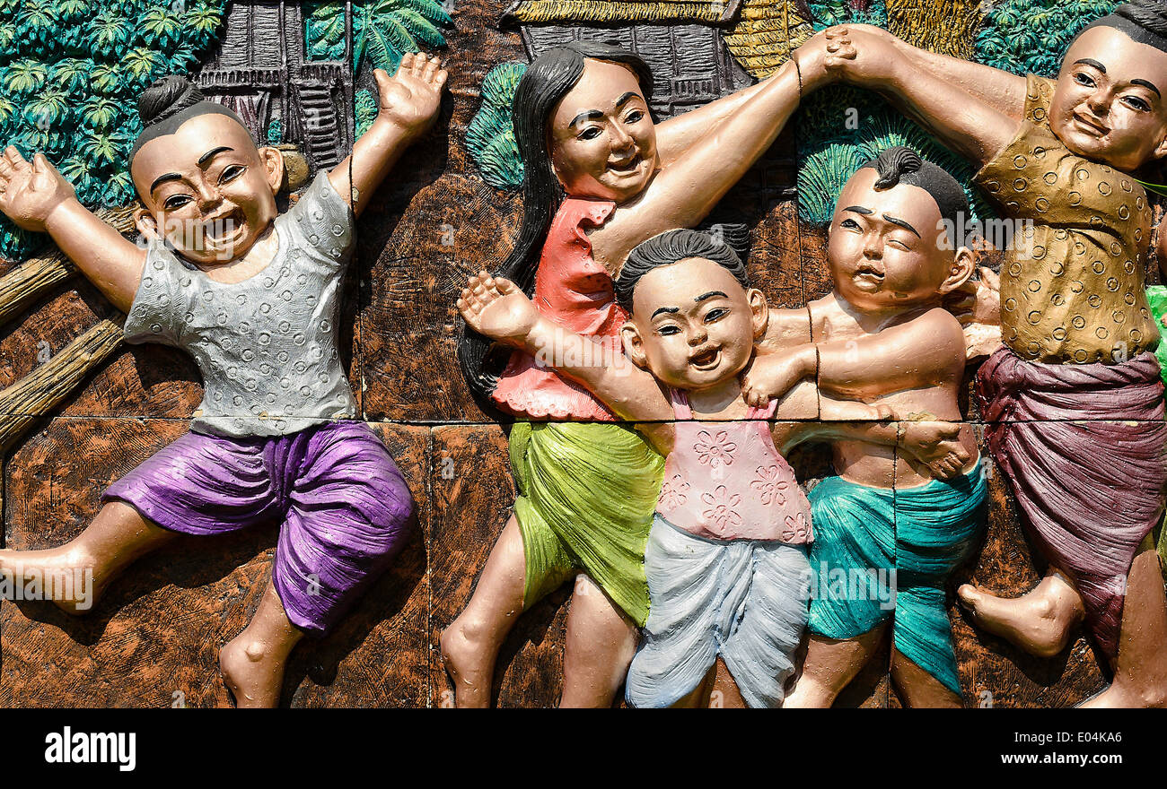 Local Amusement of Thai Children called RE RE KHAO SAN - Stock Image