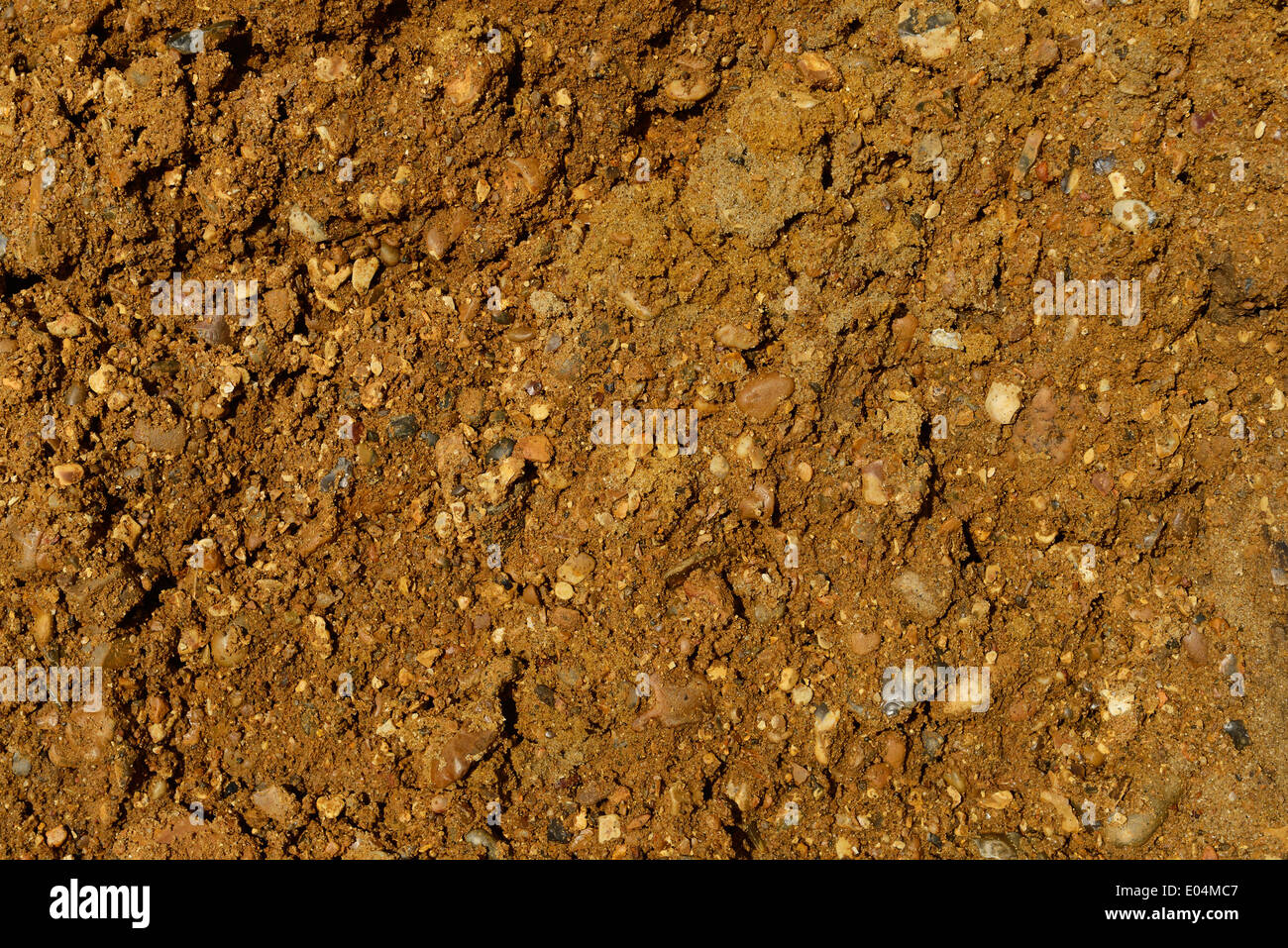 Close up detail of soil and stones - Stock Image