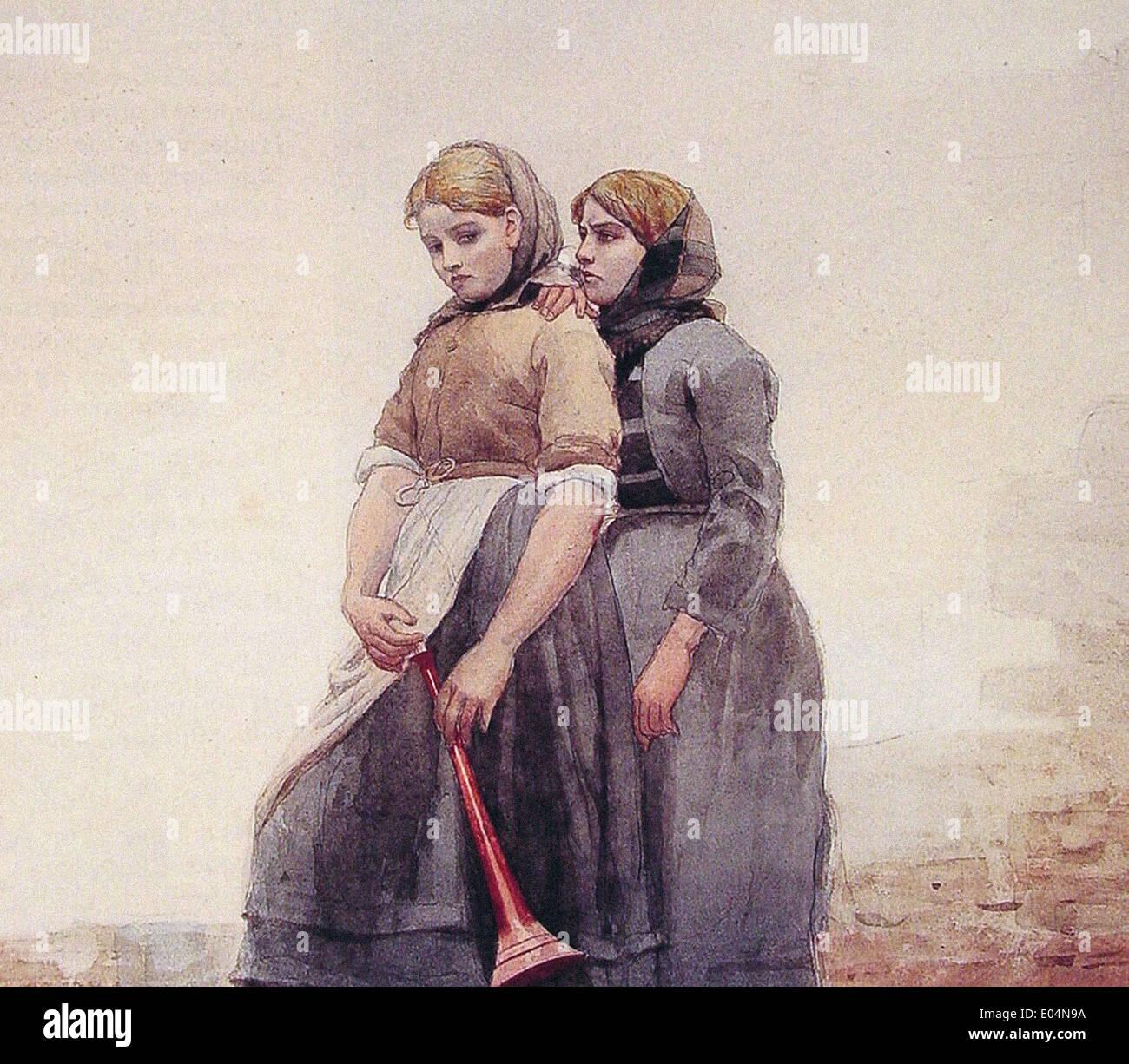 Winslow Homer The Fog Horn - Stock Image