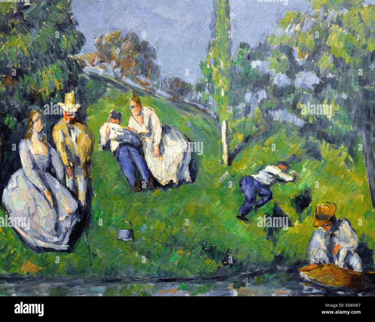 Paul Cezanne The Pond - Stock Image