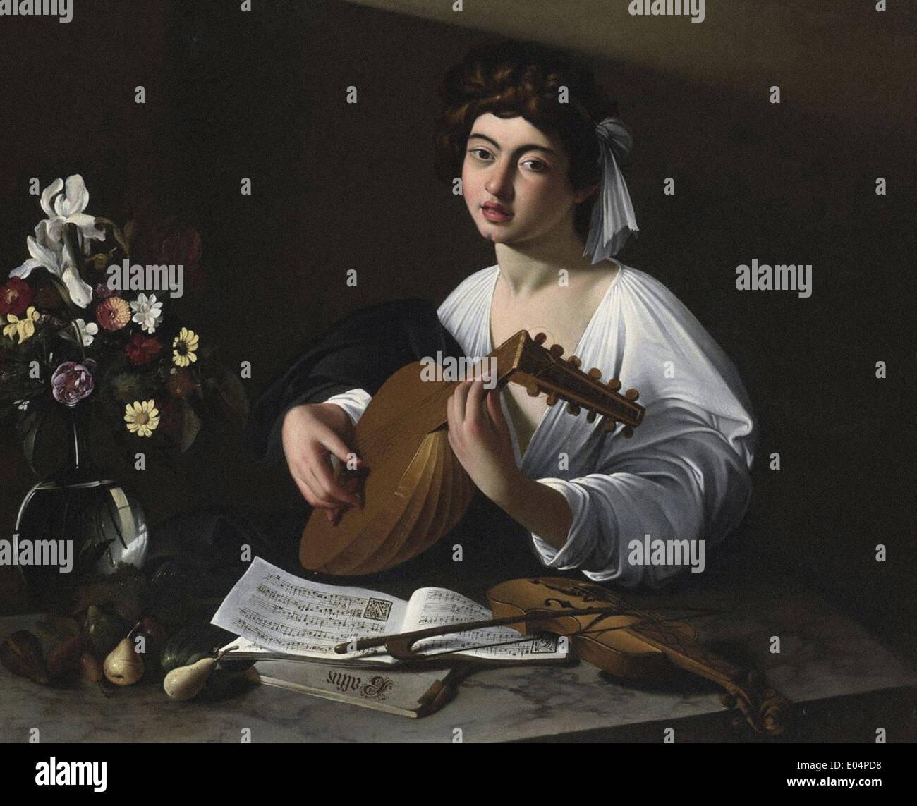 Caravaggio The Lute Player - Stock Image