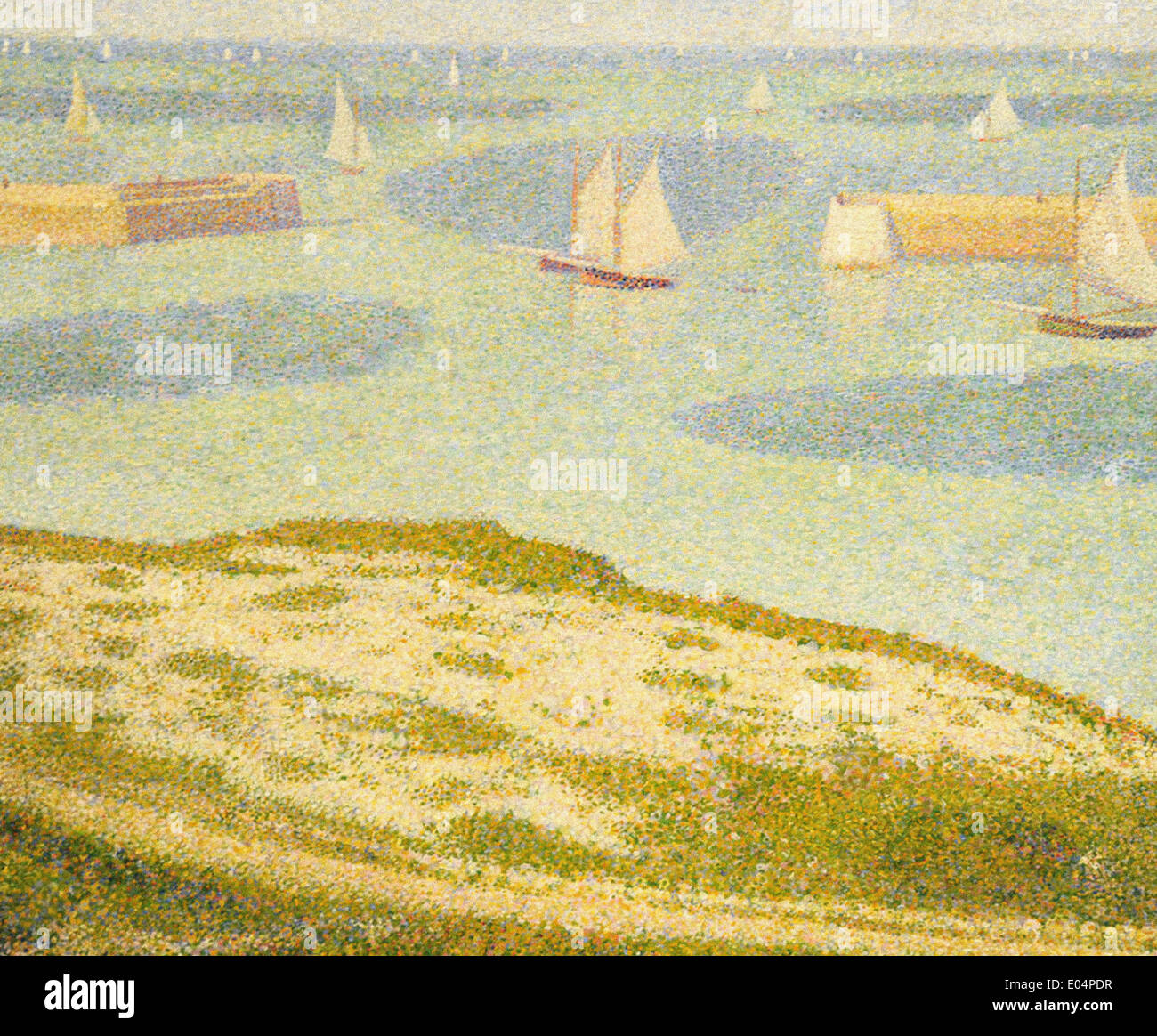 Georges Seurat Port-en-Bessin, Entrance to the Harbor - Stock Image
