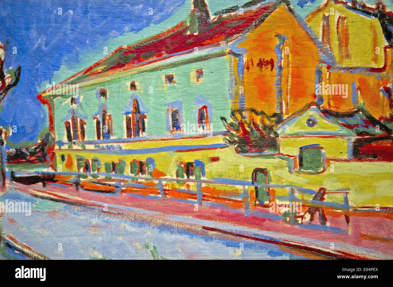 Ernst Ludwig Kirchner Houses in Dresden - Stock Image