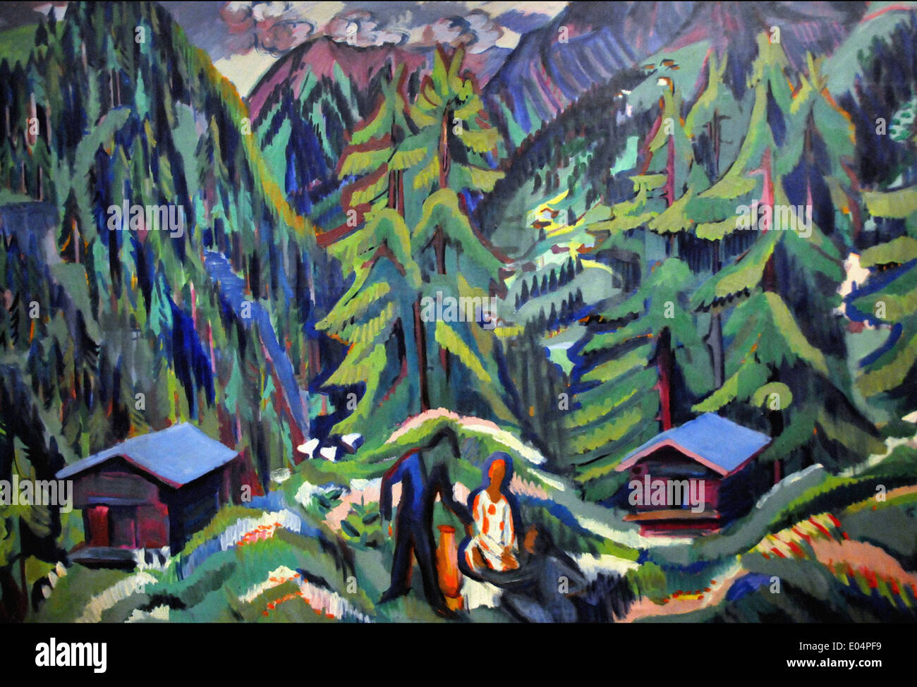 Ernst Ludwig Kirchner Mountain Landscape from Clavadel - Stock Image