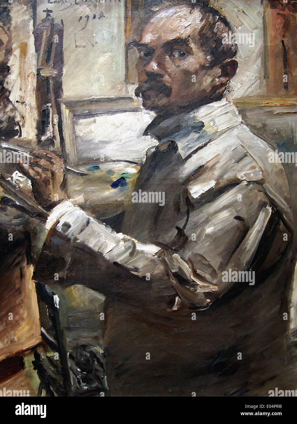 Lovis Corinth Self-portrait - Stock Image