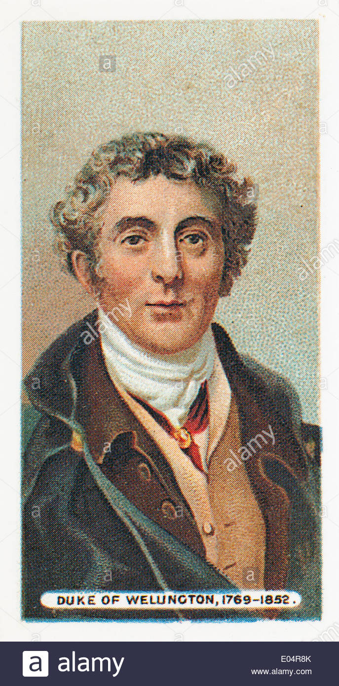 Wills cigarette card Duke of Wellington 1769 1852. EDITORIAL ONLY - Stock Image