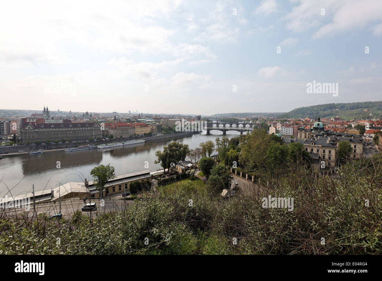 Prague, overview, Prag, Uebersicht - Stock Image