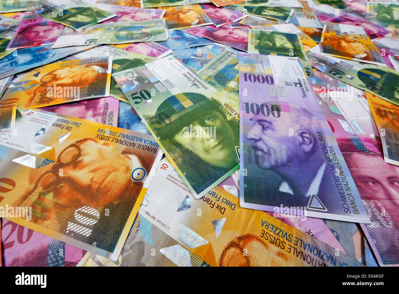 swiss francs money and currency of switzerland schweizer franken stock photo 68947775 alamy. Black Bedroom Furniture Sets. Home Design Ideas