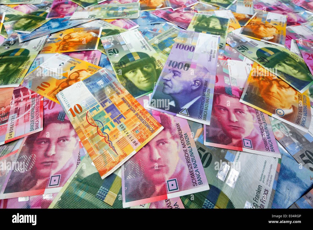 swiss francs money and currency of switzerland schweizer franken stock photo 68947782 alamy. Black Bedroom Furniture Sets. Home Design Ideas