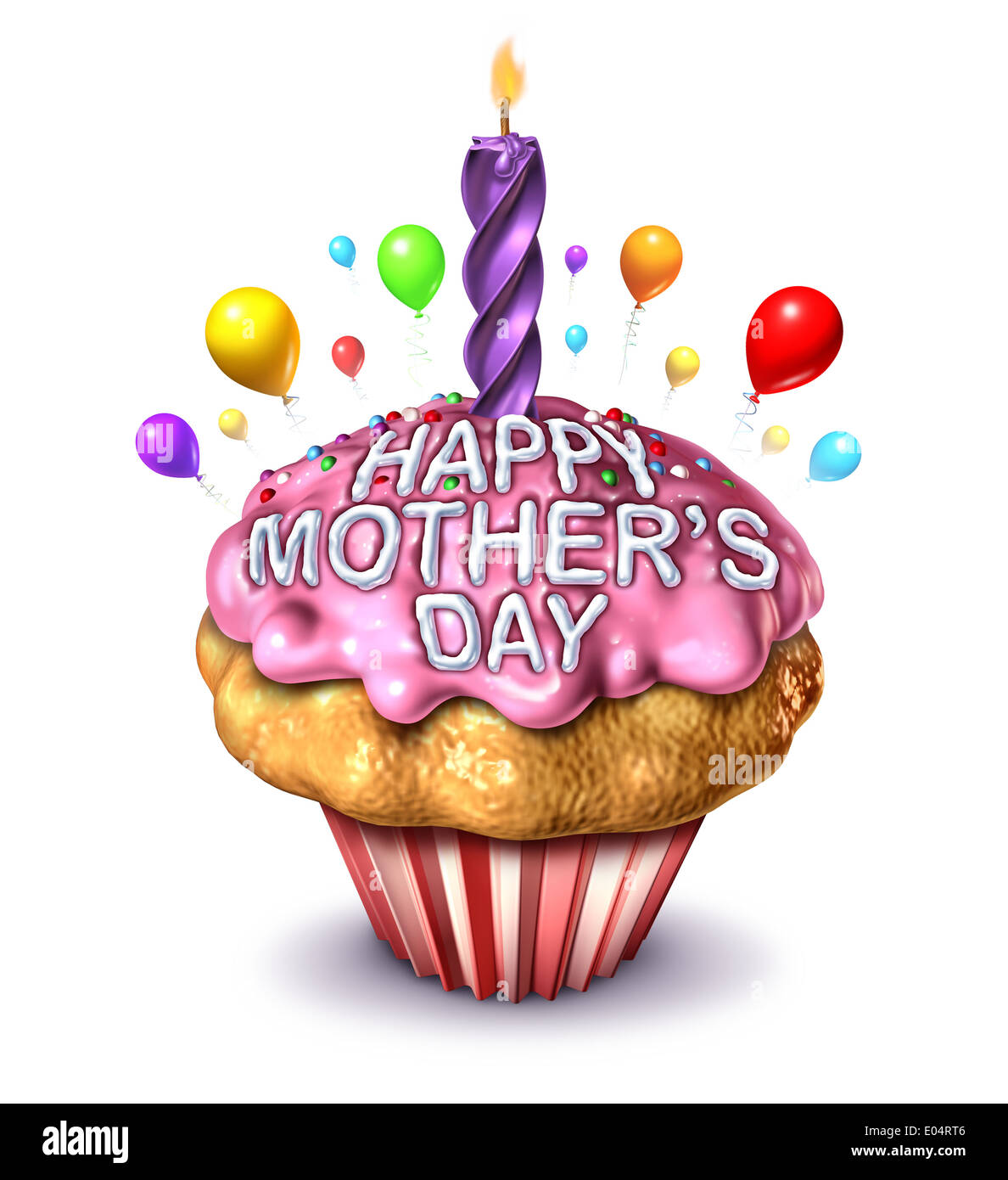Happy Mother's day concept as a symbol for the best mom celebration to honor motherhood and love for the number one mother as a - Stock Image