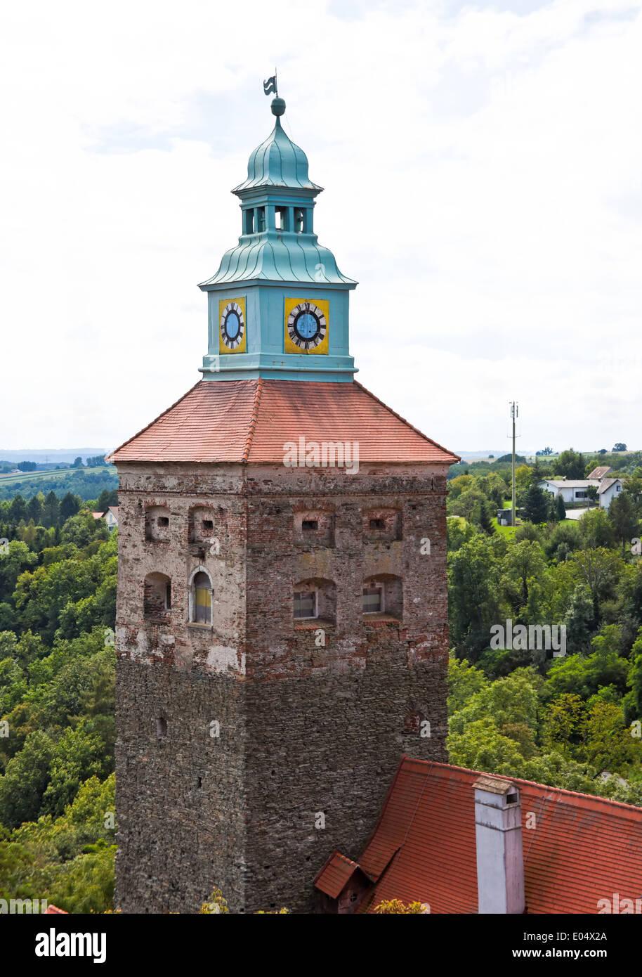 Europe, Austria, Burgenland, Stadtschlaiming, town view, Europa, Oesterreich, Stadtansicht - Stock Image