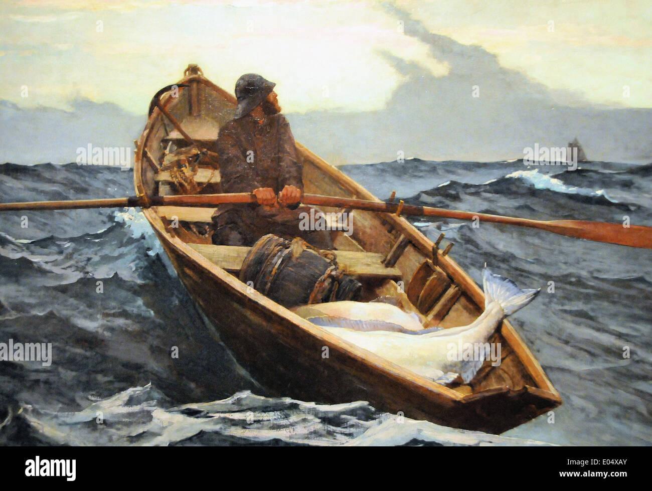 Winslow Homer The Fog Warning - Stock Image