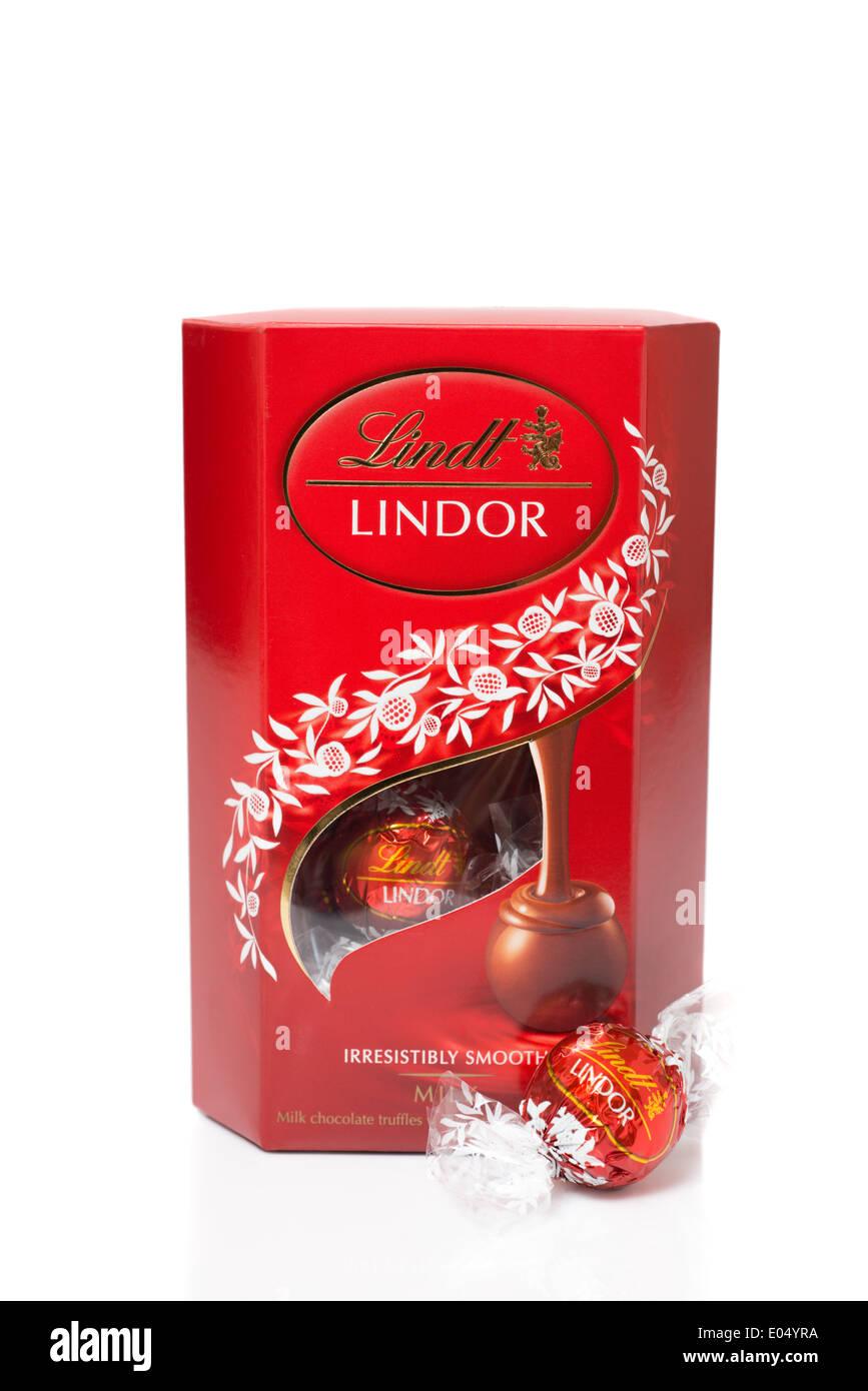 Lindt Lindor illustrative editorial product shot - Stock Image