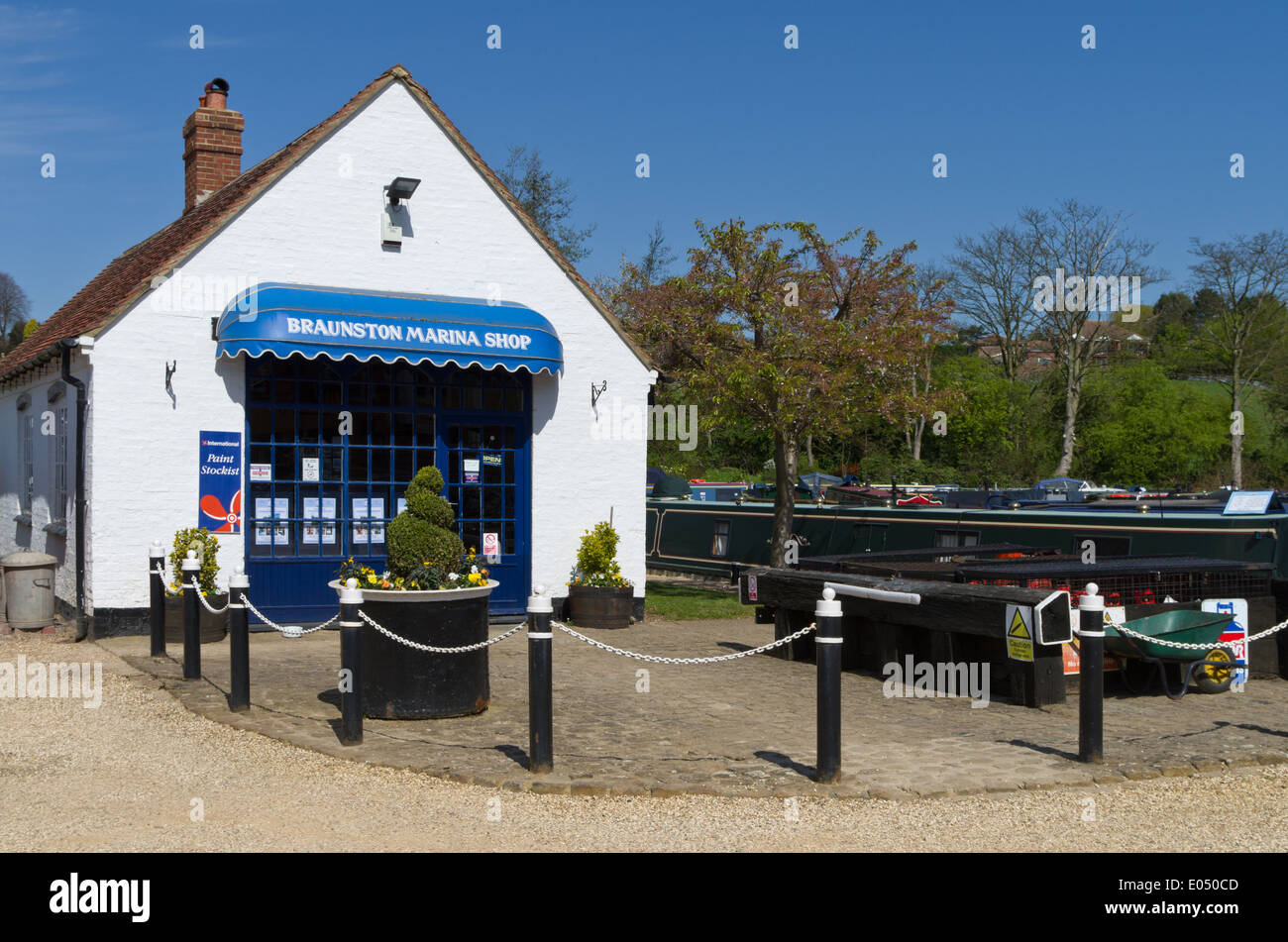 Shop at Braunston Marina, UK - Stock Image
