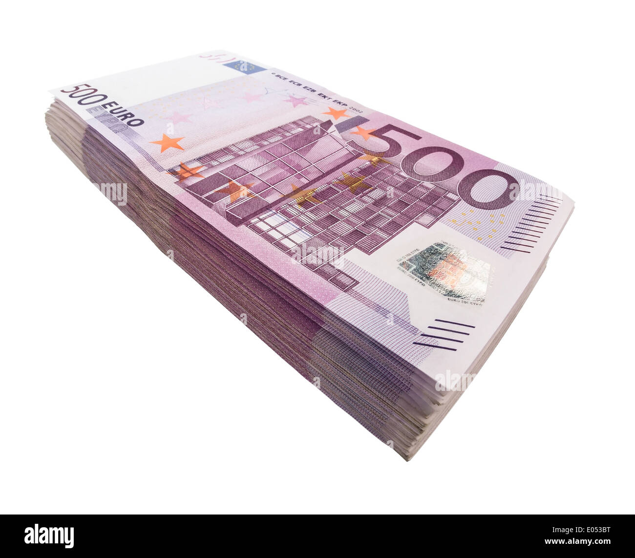 many 500 euros of bank notes symbolic photo for wealth and stock
