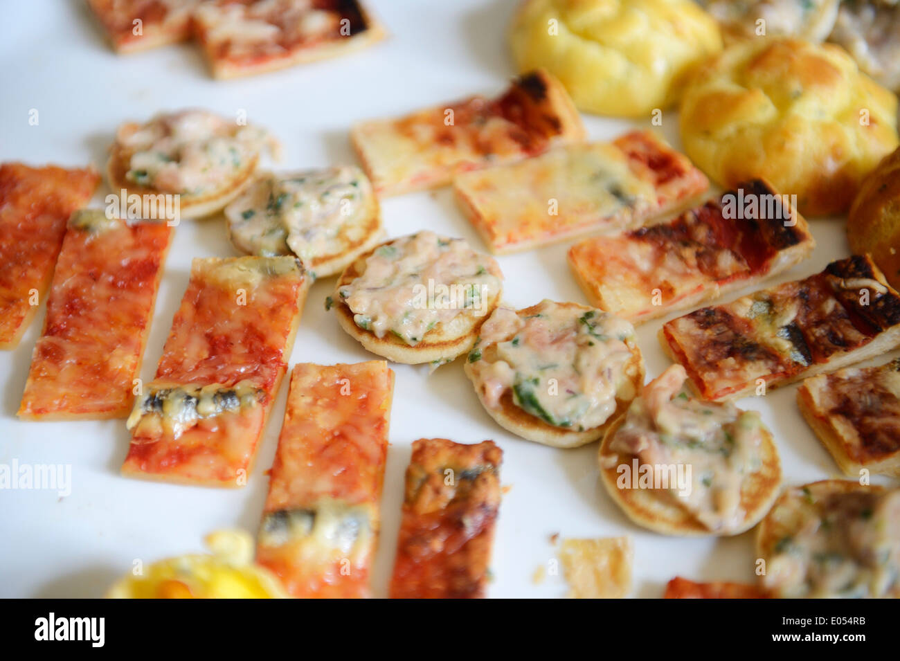 Stock photo of hors d'oeuvres being served at a celebration - Stock Image