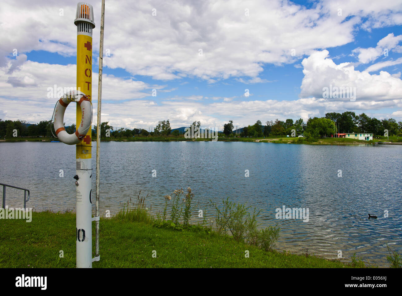 The Pichlingersee Bath Lake Close To Linz Stock Photos & The ...