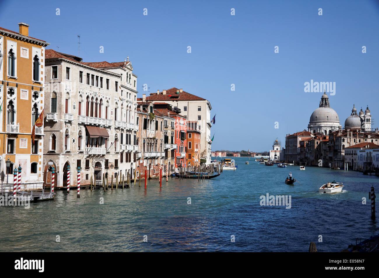 The famous Canale grandee in Venice, Italy, Europe, Der beruehmte Canale Grande in Venedig, Italien, Europa - Stock Image