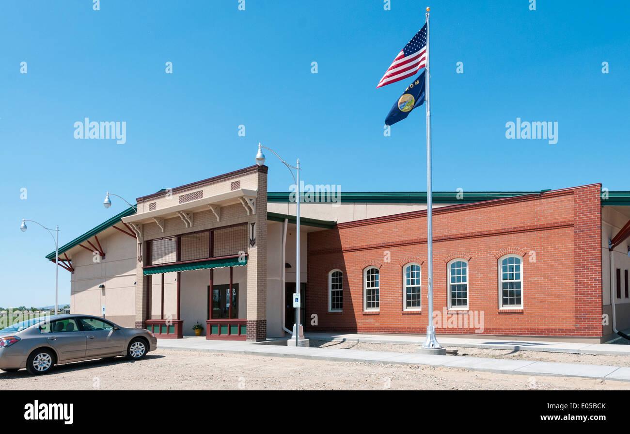 Montana, Hardin, Big Horn County Historical Museum, Main Exhibit Building - Stock Image