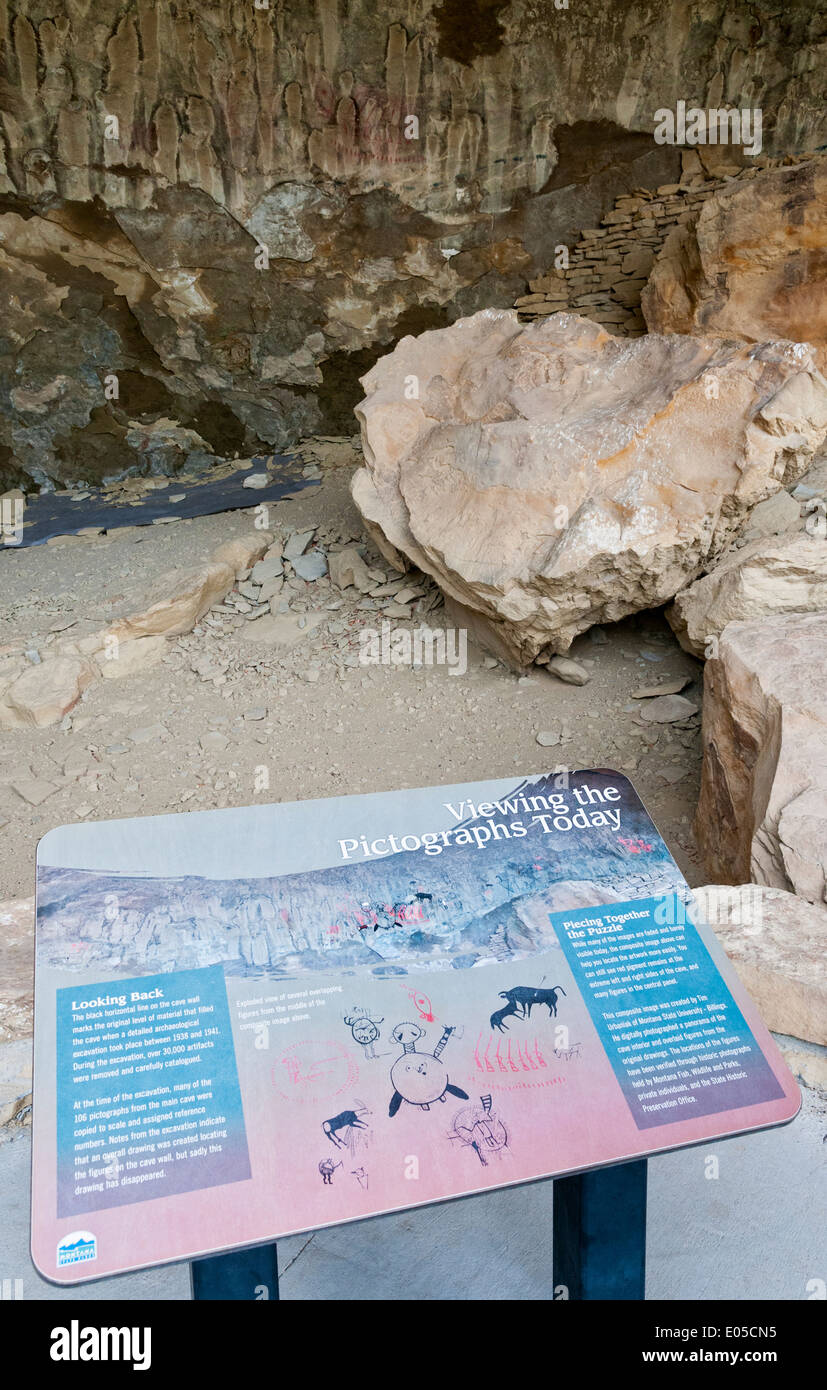 Montana, Pictograph Cave State Park near Billings - Stock Image
