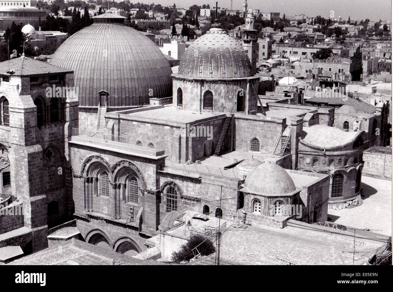 Exterior view of the Church of the Holy Sepulchre, Jerusalem - Stock Image