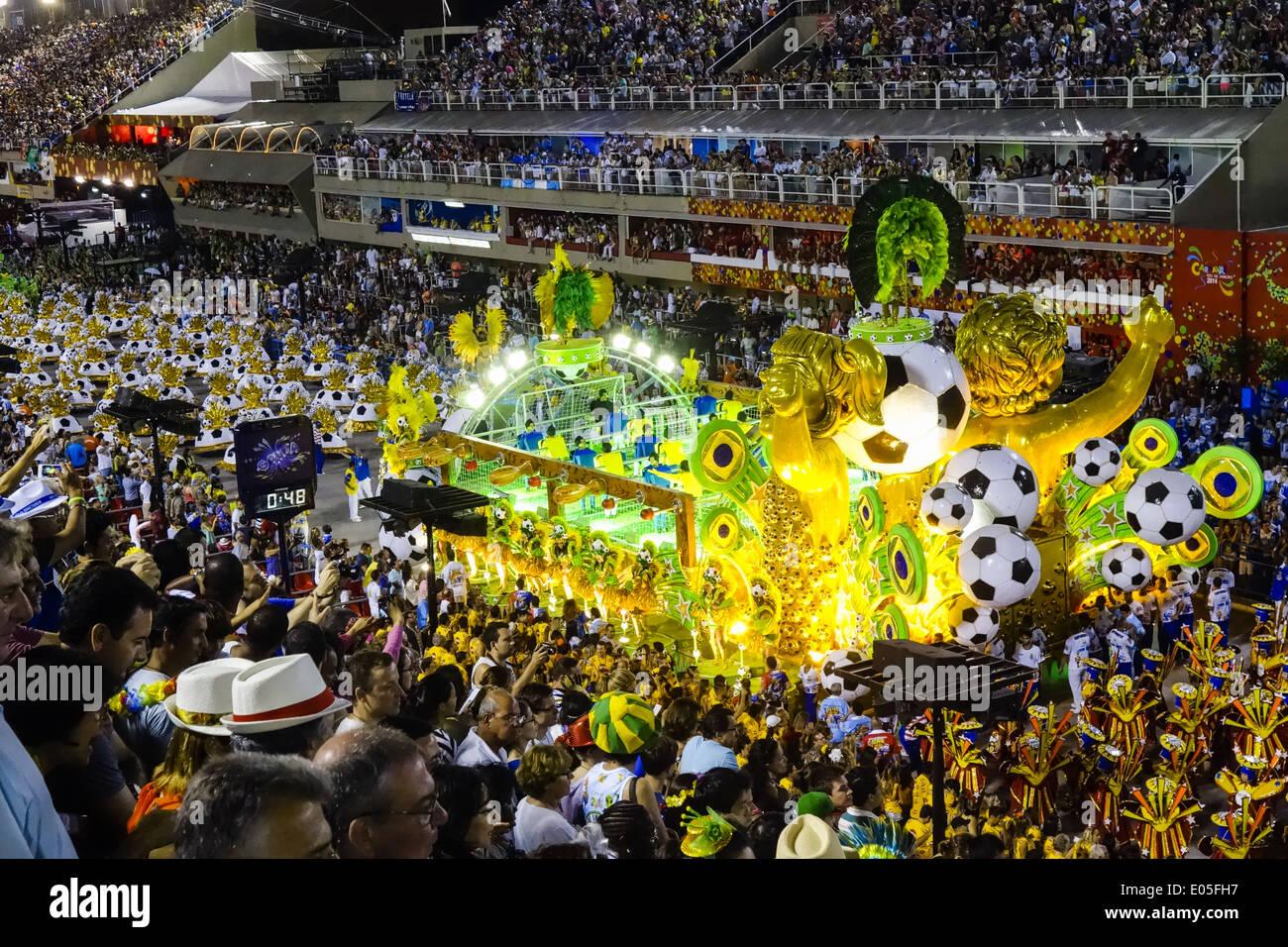 Brazil FIFA World Cup 2014 football world championship, Rio de Janeiro, Brazil - Stock Image