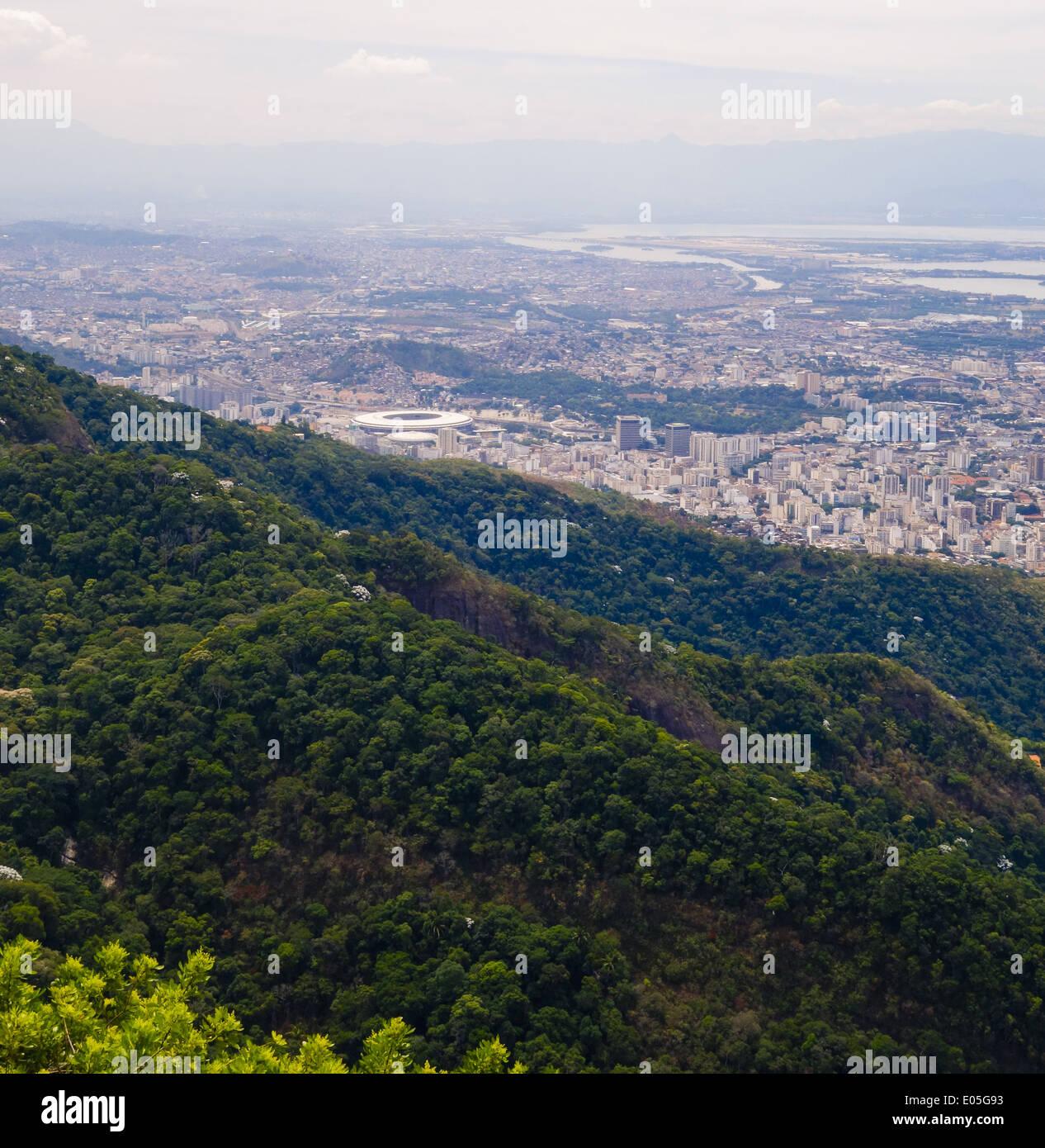Rio de Janeiro, Zona Norte, Maracana stadion, FIFA 2014, Worldcup, Brazil Stock Photo
