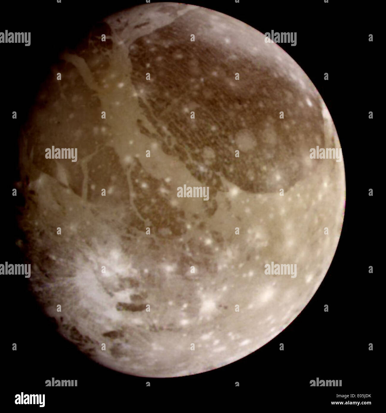 Natural color view of Ganymede - Stock Image