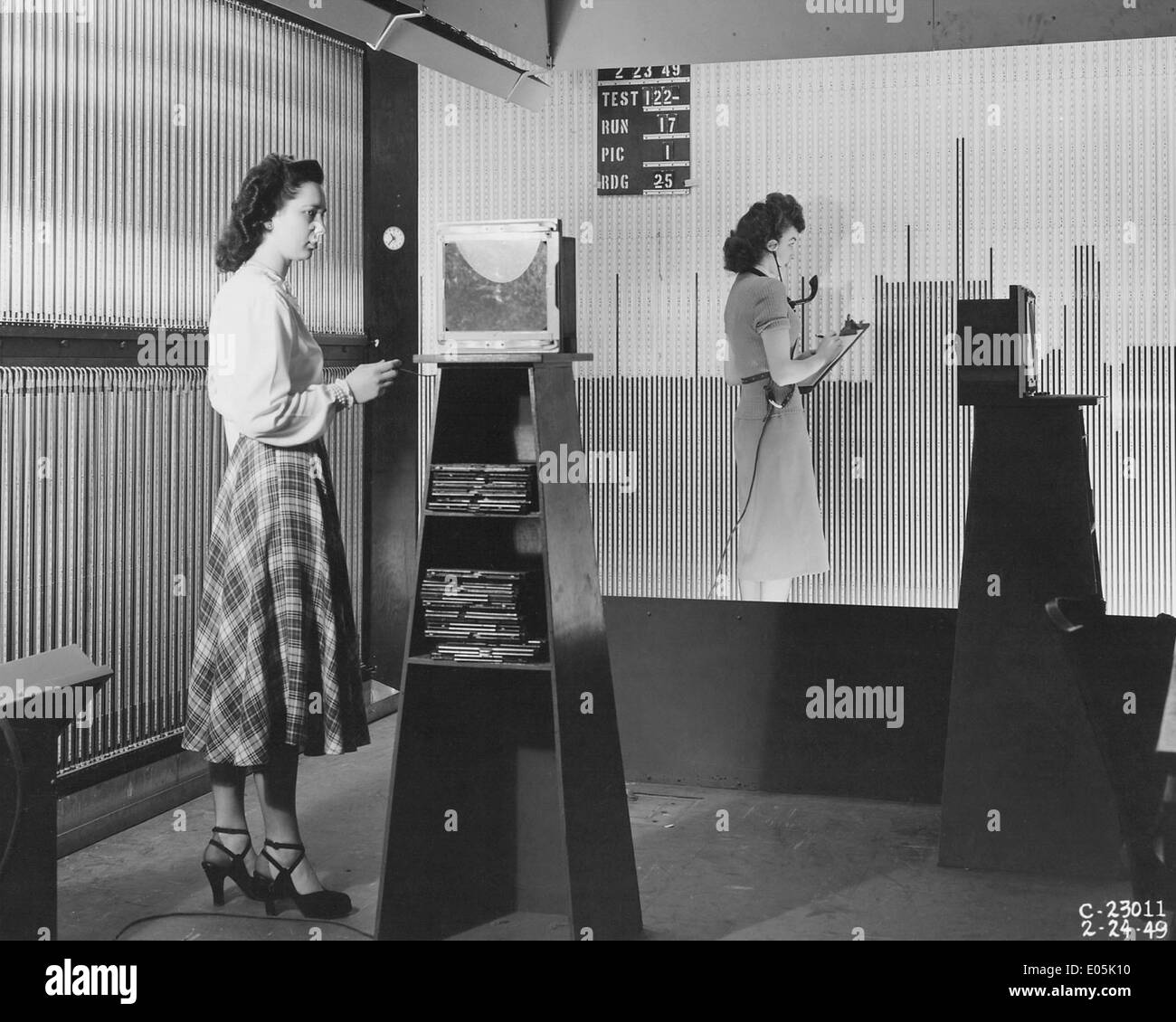 Manometer Board Setup in Supersonic Wind Tunnel - Stock Image