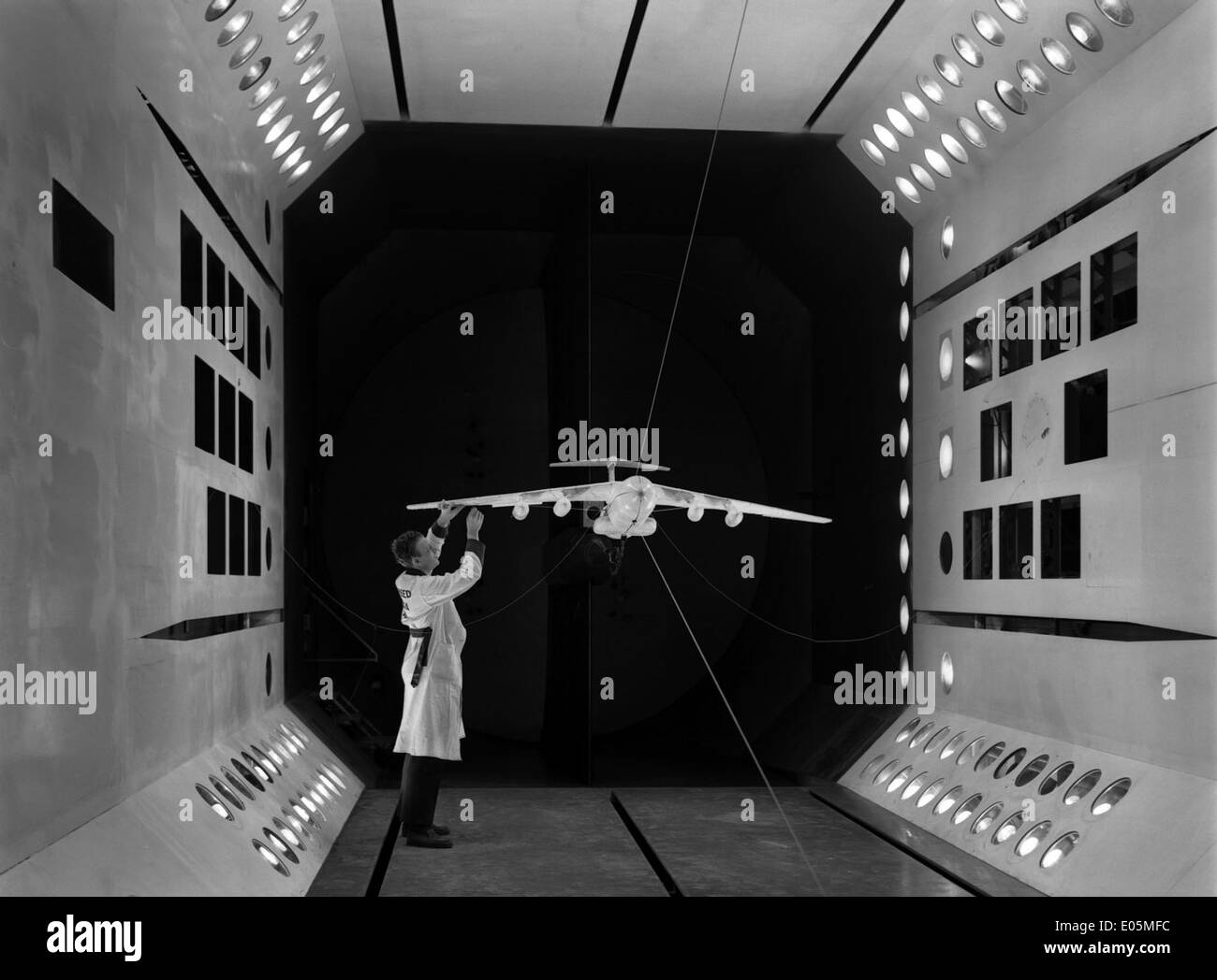 Lockheed C-141 Model in TDT - Stock Image
