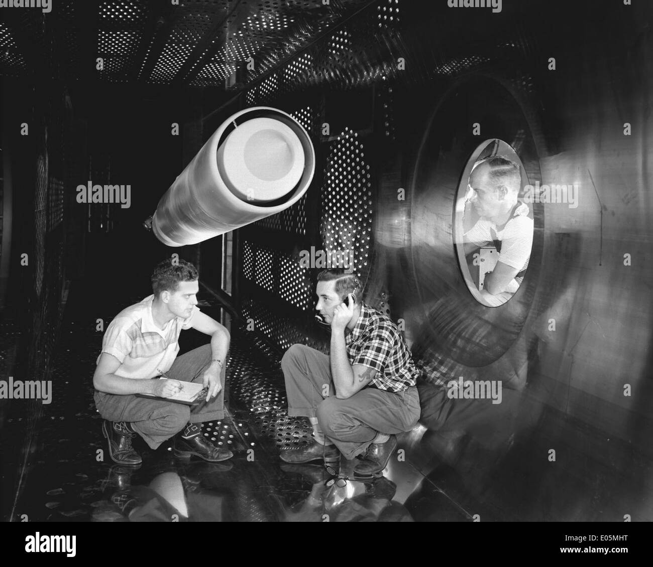 Supersonic Wind Tunnel Test Section - Stock Image