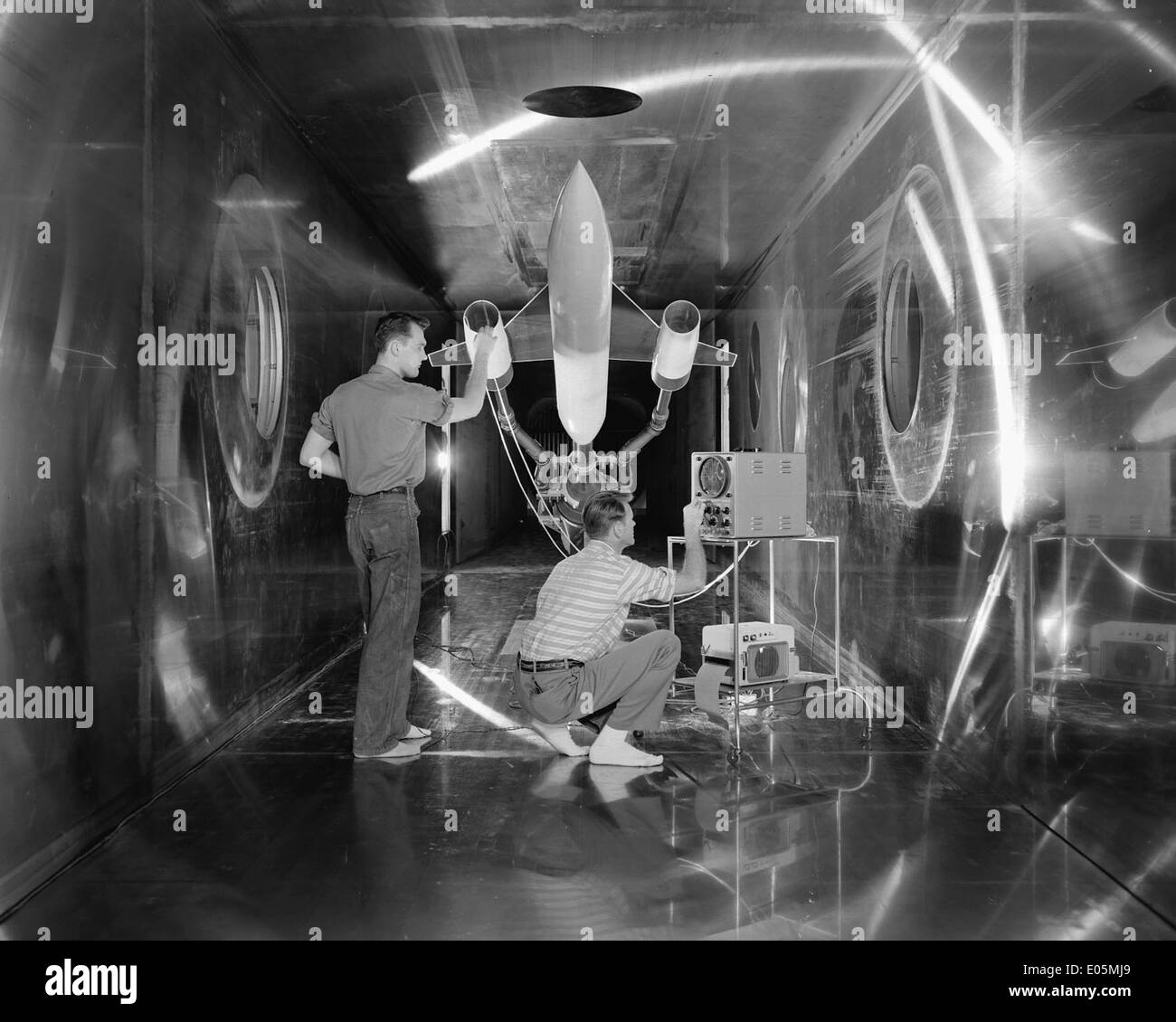Engineers Check Body Revolution Model - Stock Image