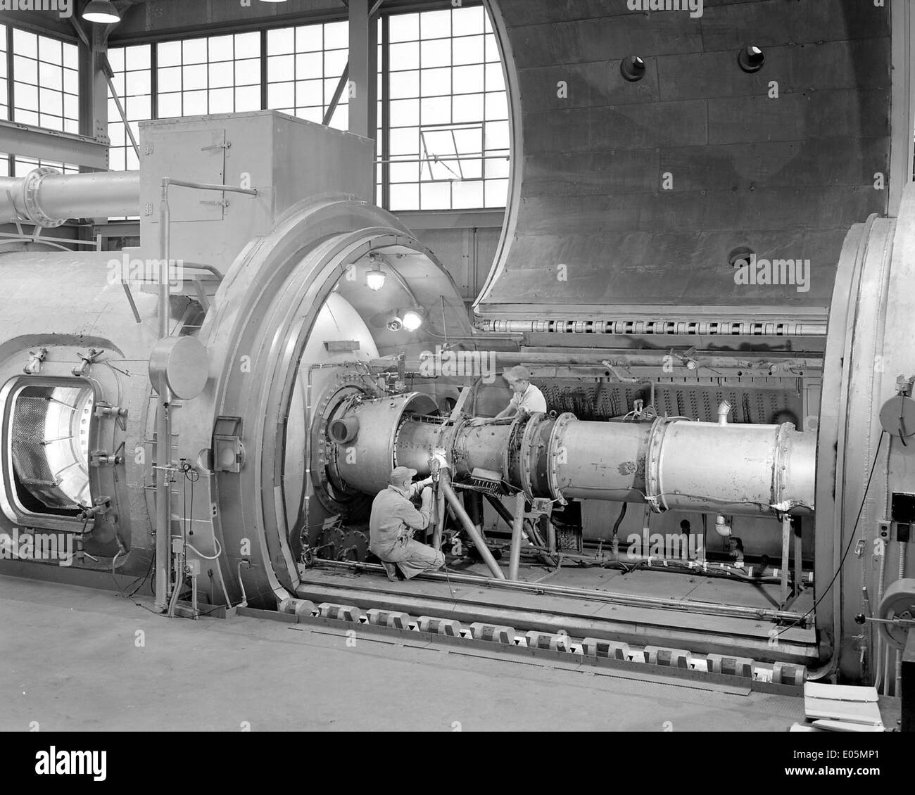 28 Romarc Ram Jet Engine in PSL Tank - Stock Image