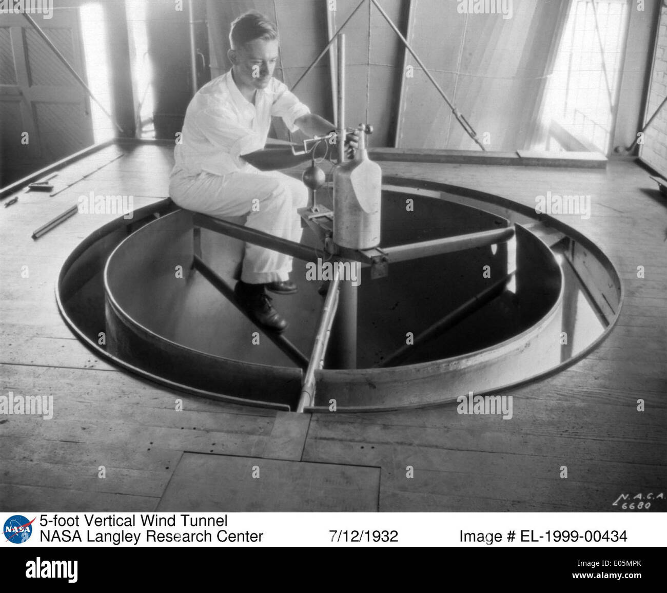 5-foot Vertical Wind Tunnel - Stock Image