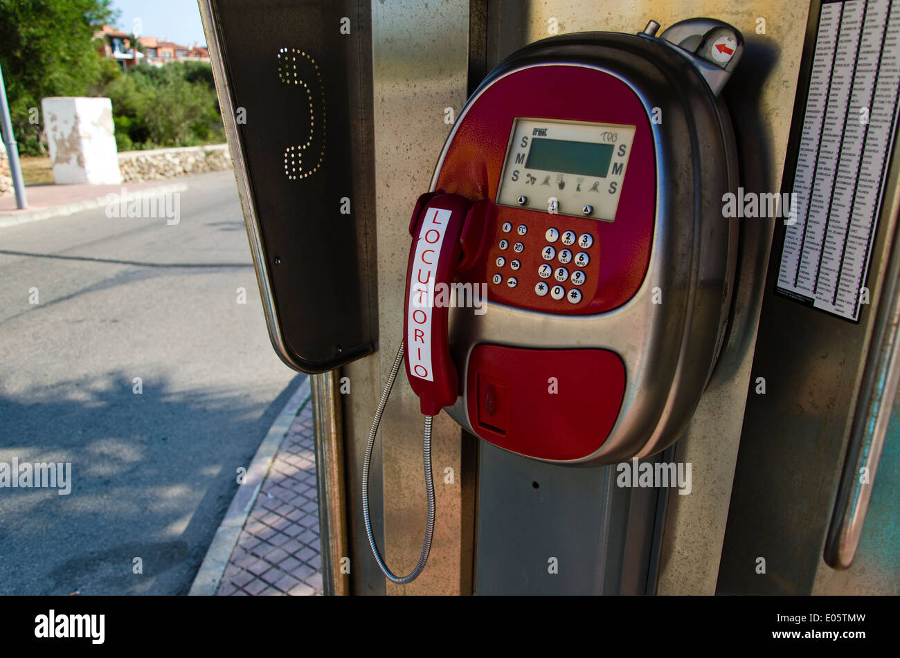 Spanish Telephone kiosk - Stock Image