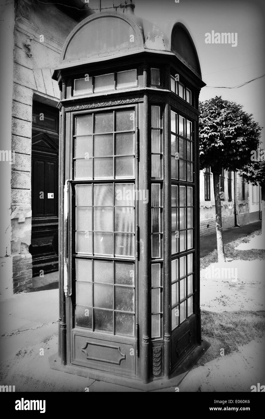 Vintage image of phone booth - Stock Image