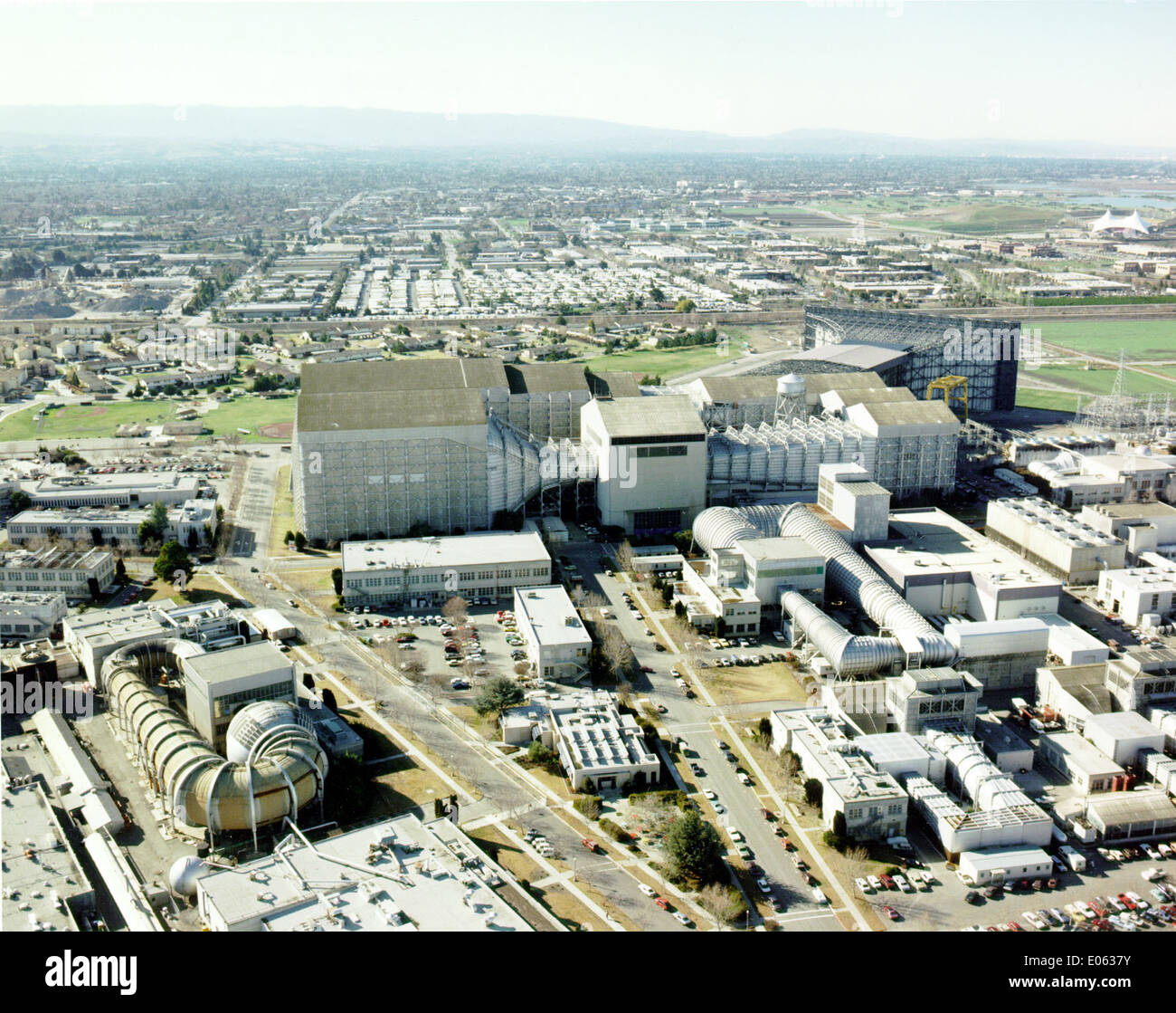 Aerial View Ames Research Center Wind Tunnels - Stock Image