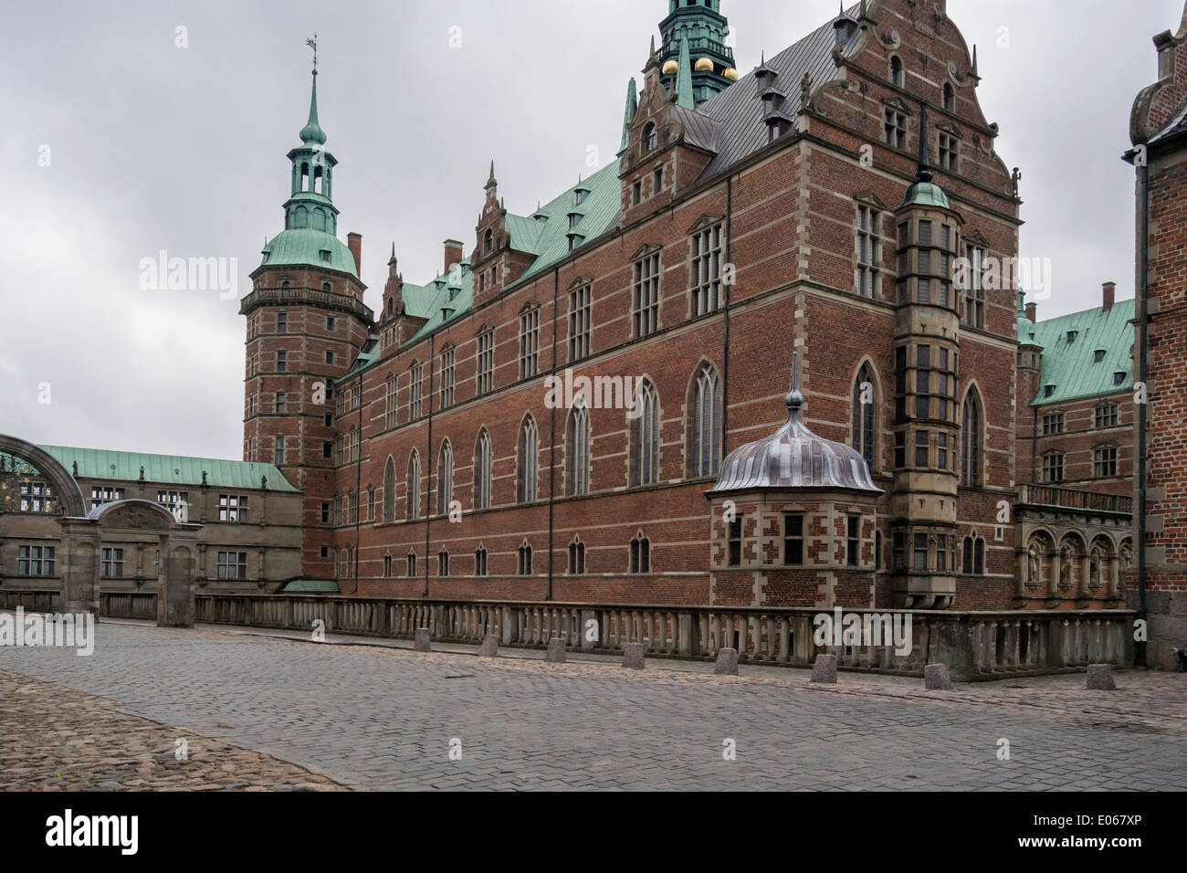 Fredericksborg Palace, Hillerod, Denmakr - Stock Image