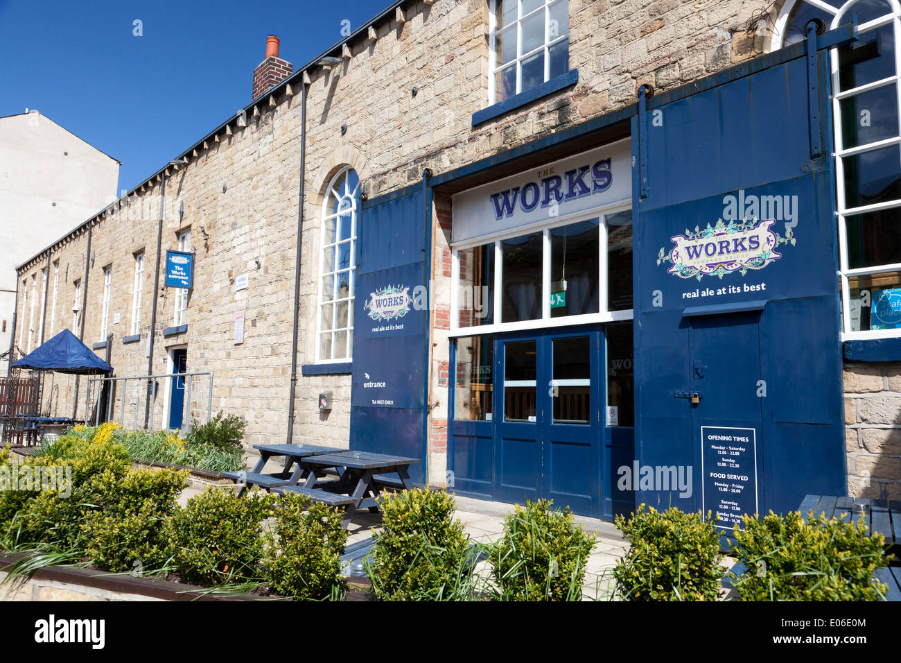 Former industrial building converted into The Works pub, Sowerby Bridge, West Yorkshire - Stock Image