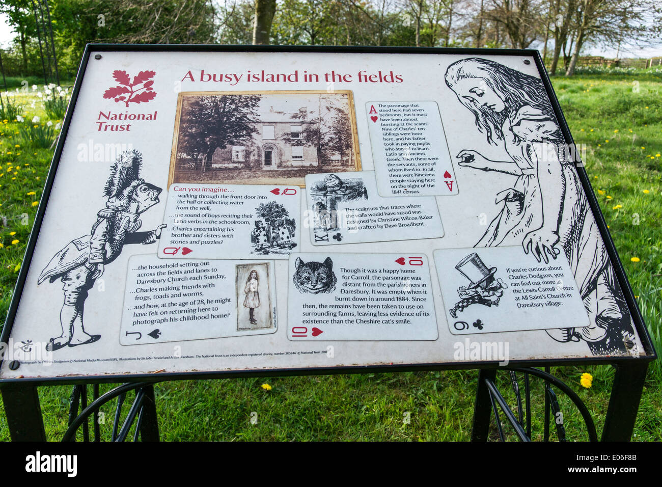 Daresbury was the birthplace of Alice's Adventures in Wonderland author Lewis Carroll. - Stock Image