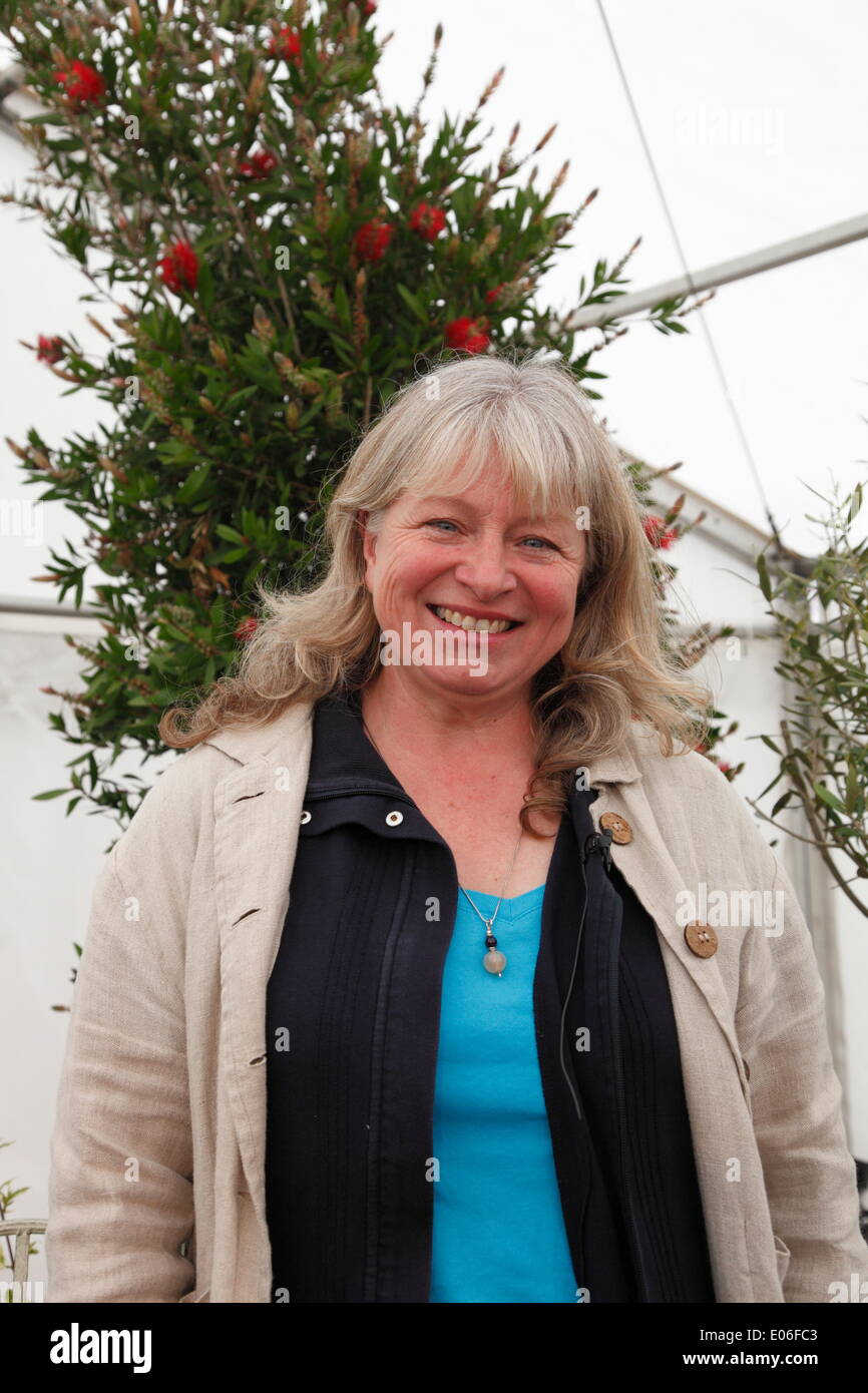 Powderham Castle, Exeter, UK. 03rd May, 2014. Toby Buckland's Garden Festival. Two day flower fair on the May Bank Holiday weekend. Anne Swithinbank, panellist on BBC Radio 4's Gardener's Question Time. Credit:  Anthony Collins/Alamy Live News - Stock Image