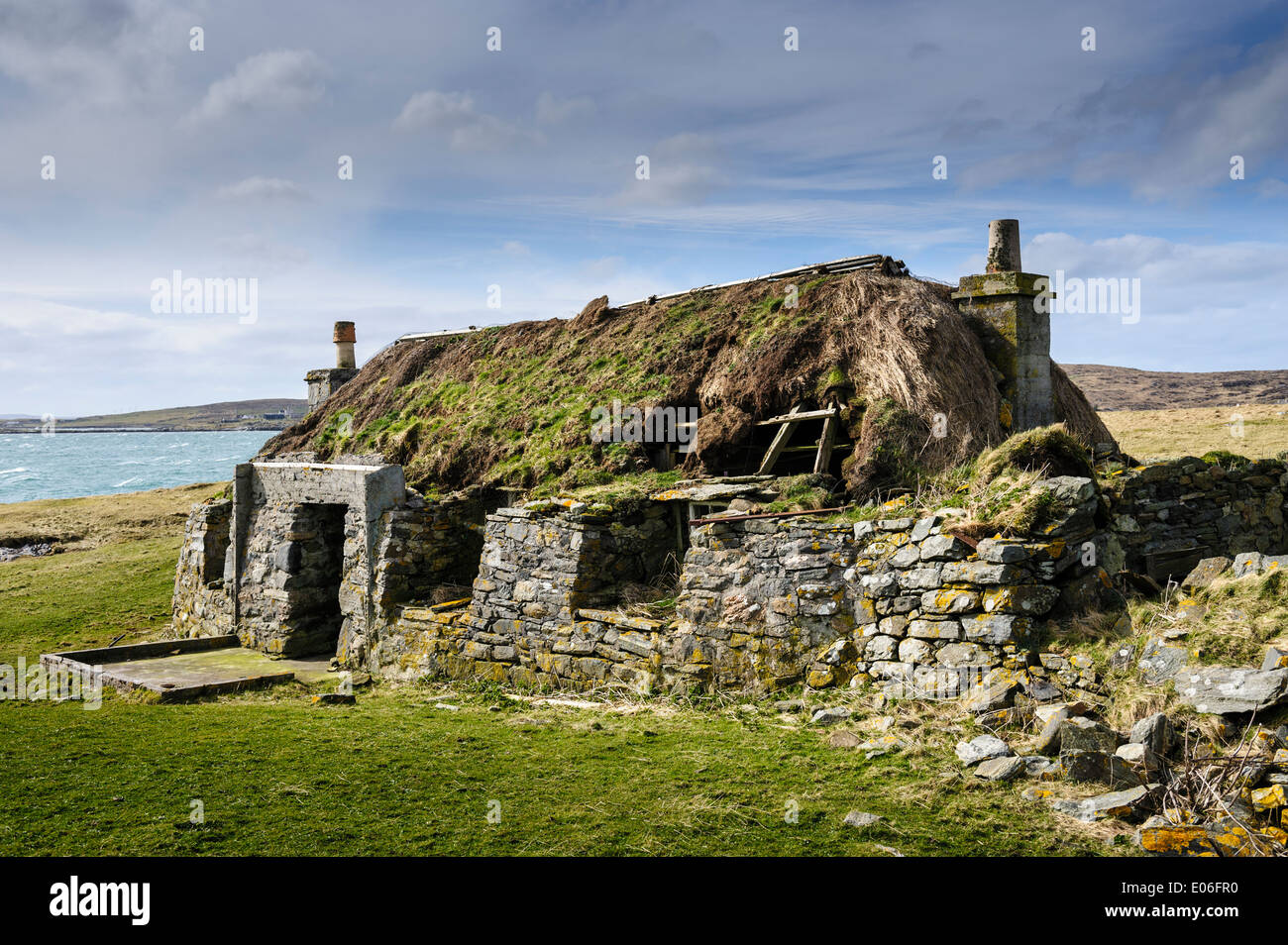 black house berneray stock photos black house berneray stock images alamy. Black Bedroom Furniture Sets. Home Design Ideas