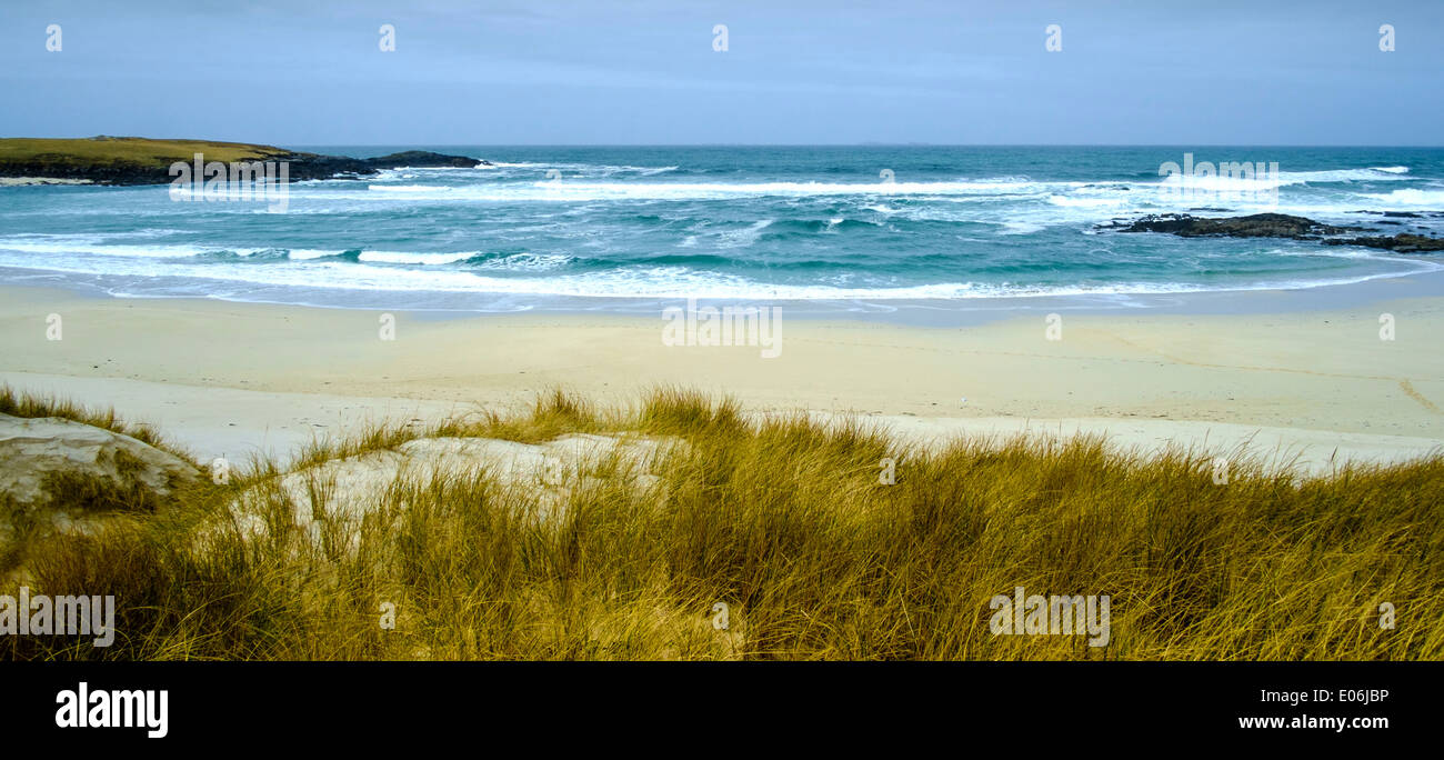 Beach at Baleloch, North Uist, Outer Hebrides, Scotland - Stock Image