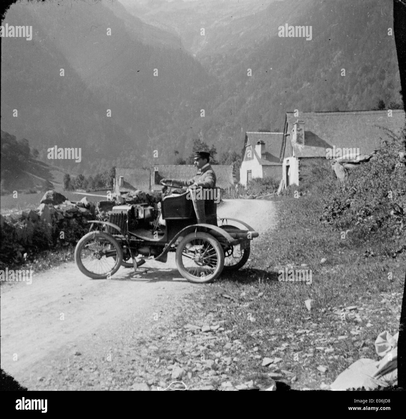 Voiture automobile, Luchon - Stock Image