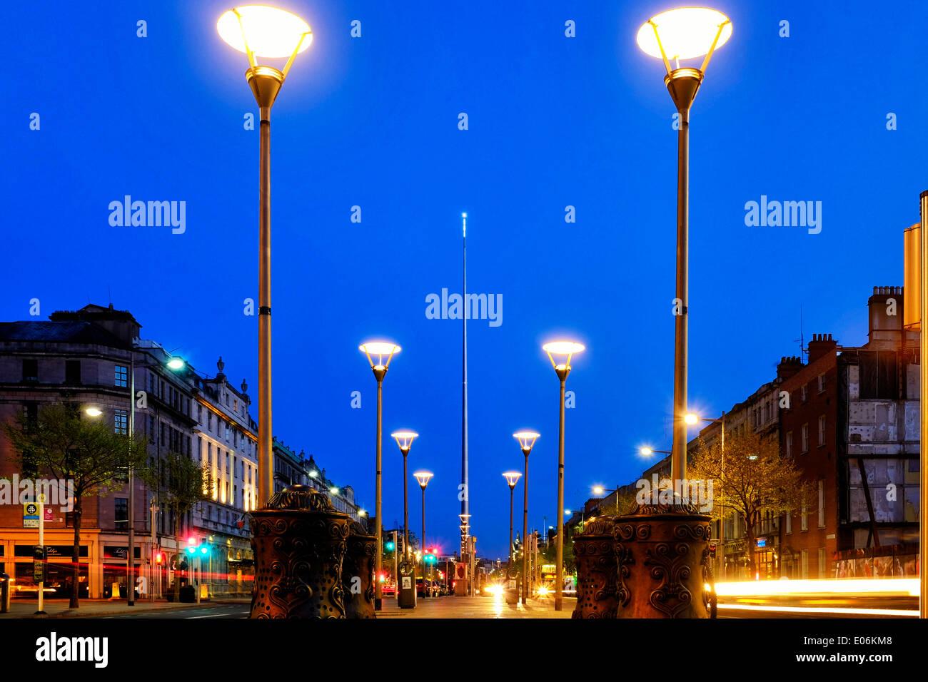 O'Connell Street, Dublin, Ireland Stock Photo